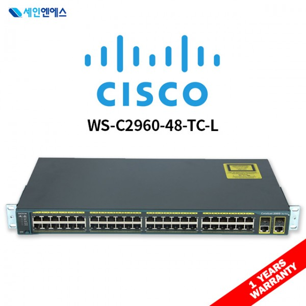 [중고] WS-C2960-48TC-L Switch 시스코 스위치  재고보유 국내발송