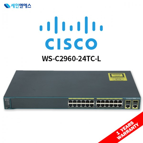 [중고] WS-C2960-24TC-L Switch 시스코 스위치 국내발송