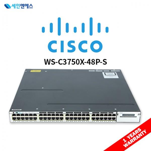 [중고] WS-C3750X-48P-S Switch 시스코 스위치 국내발송