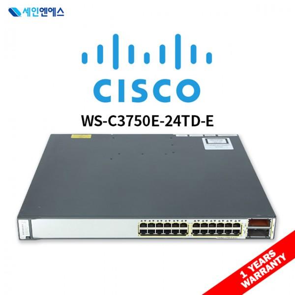 [중고] WS-C3750E-24TD-E Switch 시스코 스위치 국내발송